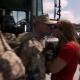 Marine kisses wife goodbye deploying to Iraq War