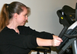 Michelle Keener on Exercise Equipment